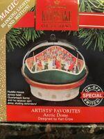 "Hallmark ""Arctic Dome"" Ornament 1991 KEN CROW Motion & Lights Football Stadium"