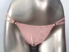 Victorias Secret Floral Pink Satin Ring Strappy String Bikini Panty XS S M L XL