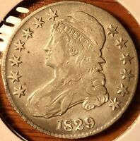 1829 Capped Bust Silver US Half Dollar