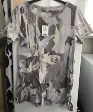 Ladies Next Grey With Multi Coloured Design Tunic Top Size 12 ** Brand New **