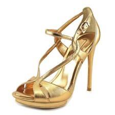Calzado de mujer plataformas de piel color principal oro