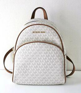 Michael Kors Backpack Bag Abbey Md Backpack Signature Vanilla
