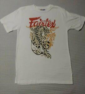 NEW! Fairtex Muay Thai MMA Mixed Martial Arts Mens T-Shirt - White - UFC