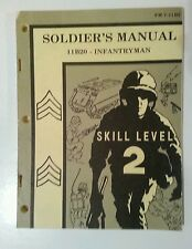 Vintage US Army Military Soldier Book Infantryman,1976 Skill Level 2 - Softcover