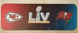 SUPER BOWL LV SIGN BUCS BUCCANEERS KC CHIEFS CHAMPIONS NFL STADIUM GIVEAWAY NEW