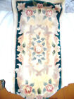 Lot of two vintage hand tufted Flowers beign Chinese rug wool