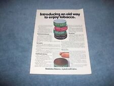 "1971 Skoal Copenhagen Tobacco Snuff Vitnage Ad ""Introducing an Old Way to Enjoy"