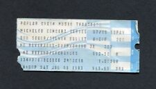 1983 Bob Seger Silver Bullet concert ticket stub Poplar Creek Against The Wind