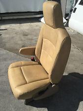 08-15 FORD ECONOLINE E150 E250 E350 E450 VAN DRIVER BUCKET RV SEAT TAN LEATHER