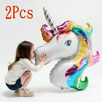 Large Unicorn Rainbow Foil Helium Balloon Children Birthday Party Decoration 2x