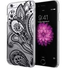 BOHEMIAN BLACK HENNA PAISLEY IPHONE 5 5S CLEAR PHONE CASE*