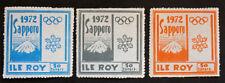 Stamp FRANCE CURIOSITY - ISLAND ROY n°109 à 111 n (Cyn23)