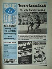 Programm 1995/96 VfB Oldenburg - Werder Bremen Am.