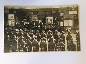 1906 POSTCARD: KING EDWARD VII ARRIVAL AT HUNTINGDON TRAIN STATION - PRE-OWNED