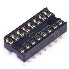 20pcs 16pin Dip Ic Socket Adaptor Solder Type Socket Pitch Dual Wipe Contact New