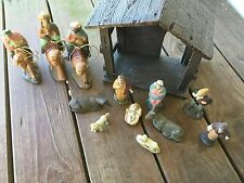 Christmas Nativity Set - Stable with 12 Resin Figurines