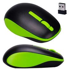 Sport style 2.4GHz USB Wireless Optical 3D Button Mice Receiver Game Mouse Green