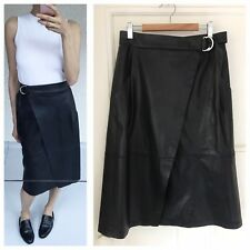 Vegan Leather Midi Wrap Skirt By English Fashion Brand French Connection Sz S