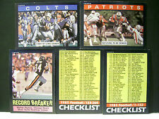 1985 Topps NFL Football You Pick 2 For A Dollar Complete Your Set Nmt All U Want