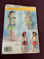 Simplicity Uncut Girls Ruffled Dress Sewing Pattern  Size 3-8