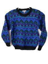 Vtg Epogee Sweater Nordic Fair Isle Icelandic Mohair Blend Women's Medium M B3