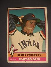 DENNIS ECKERSLEY 1976 Topps #98 RC Indians