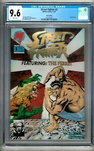 "Street Fighter #3 (1993) CGC 9.6  WP  Strazewski  ""Gold Edition""  1st In Census"