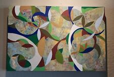 DAVID PALMER art abstract ORIGINAL Oil VEGETABLE Signed OUTSTANDING!