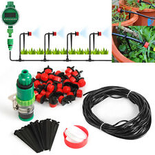 New Listing82 Ft Diy Micro Drip Irrigation Kit System Hose Drippers Garden Plant Watering