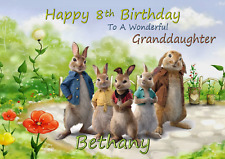 Peter Rabbit personalised A5 birthday card son daughter sister niece name age