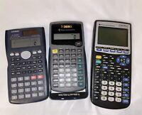 Lot Of 3 Calculators 2 Texas Instrument 1 Casio