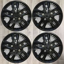 "4 GLOSS BLACK UNIVERSAL 14"" 14 INCH CAR WHEEL TRIM COVER REPLACEMENT R13 HUB CAP"