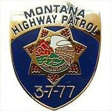 Metal Lapel Pin US 50 State Police Pin Collection Montana Highway Patrol New