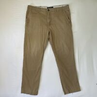 American Eagle Mens Relaxed Fit Chino Pants Straight Leg Beige Tan 38x36 STAINED
