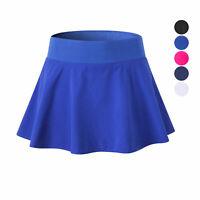 Women's Athletic Tennis Yoga Running Skort Attached Flare Skirt Moisture Wicking