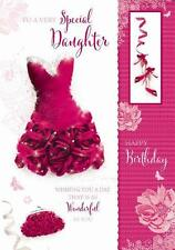 A Very Special Daughter Red Dress Shoes & Bag Design Large Happy Birthday Card