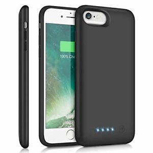 Coque Batterie Externe pour iPhone 8/7/6s/6/SE 2020, 6000mAh Chargeur Portable