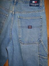 Tommy Hilfiger Carpenter Jeans Mens 34x30 Dungarees Blue Denim Pants 6j38