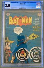 Batman #51 (1949) CGC 3.0 -- Penguin app & Full Page Ad for Superboy 1 Bob Kane