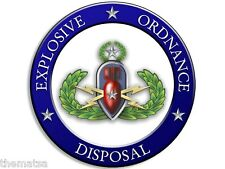 "ARMY EOD EXPLOSIVE ORDNANCE DISPOSAL BOMB  4"" BUMPER STICKER DECAL MADE IN USA"