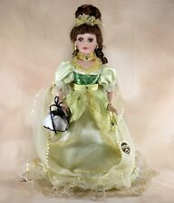 "Collectible Memories ""Karen"" Porcelain Girl Doll 16"" Brown Hair Green Eyes"