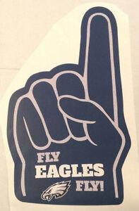 """Philadelphia """"Fly EAGLES Fly!"""" FATHEAD Foam #1 Fan Finger Decal 26"""" x 15"""" NFL"""
