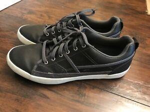 "Men's Skechers ""Romelo"" charcoal-colored memory-foam casual shoes"