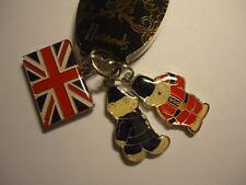 NWT HARRODS UK LONDON Bag 3 Charm Policeman/Guardsman Key ring/chain hangtag