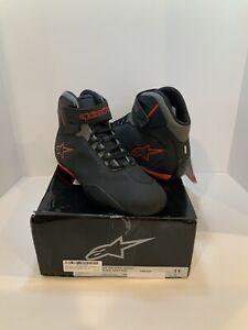 Alpinestars Men's Sektor Vented Street Motorcycle Shoes, Black/Gray/Red, 11