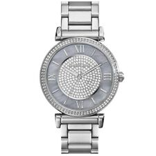 Michael Kors Women's MK3331 Caitlin Silver Crystal Pave Dial Watch