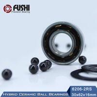 1PC 6205-2RS 25x52x15 mm Bearing Hybrid Ceramic Bearings Ball Bearing 6205RS