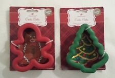 Wilton Comfort Grip Christmas Cookie Cutter Lot New NIP Tree Gingerbread Boy #1
