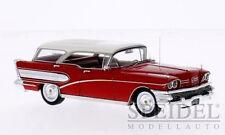 wonderful NEO-modelcar BUICK CENTURY CABALLERO STATION 1958 - red/white -  1/43