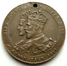 KING GEORGE V & QUEEN MARY CORONATION BELFAST 1911 Medal 25.5mm 7g Bronze GG11.2